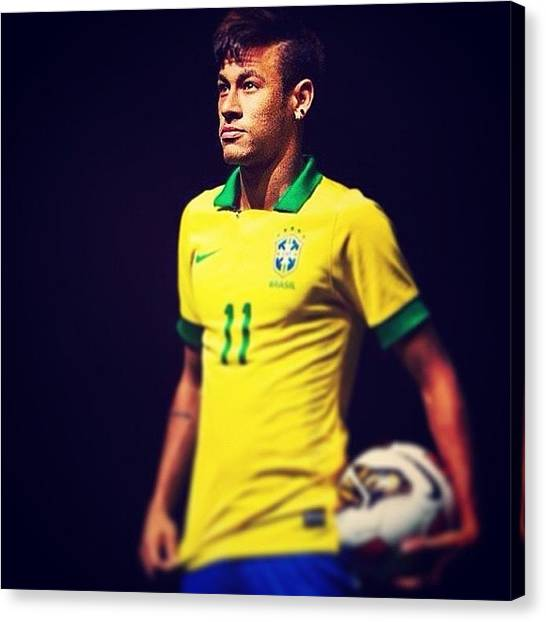 World Cup Canvas Print - World Cup Neymar by Julian Bzlin