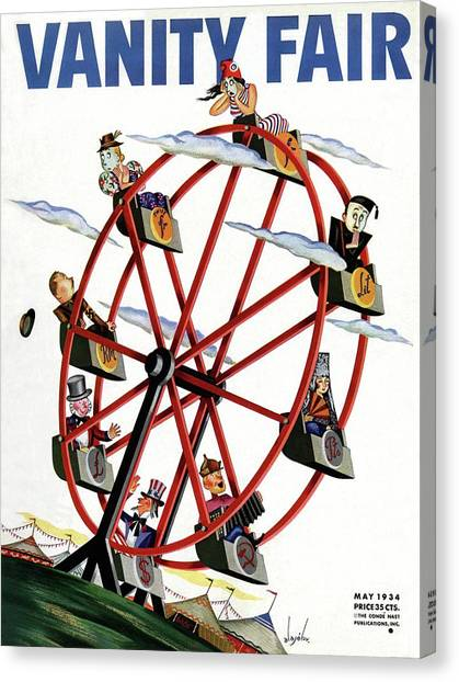 World Currencies Ferries Wheel Canvas Print by Constantin Alajalov