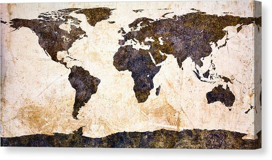 Loft Canvas Print - World Map Abstract by Bob Orsillo