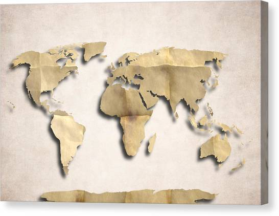 World map paint splashes canvas prints page 2 of 3 fine art america world map paint splashes canvas print world map art old paper by world art gumiabroncs Choice Image