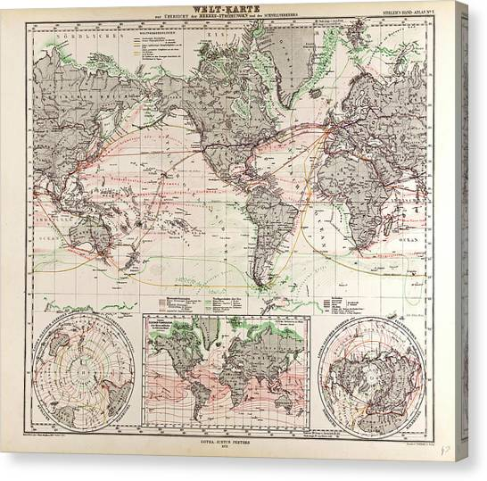 World map gotha justus perthes 1872 atlas drawing by english school world map gotha justus perthes 1872 atlas canvas print by english school gumiabroncs Images