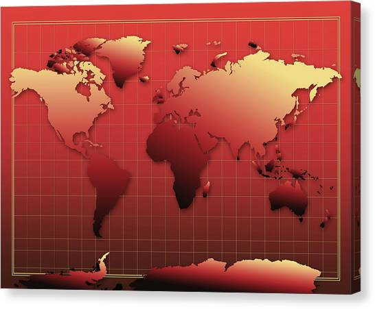 Africa map canvas prints page 3 of 39 fine art america africa map canvas print world map in red by bekim art gumiabroncs Image collections