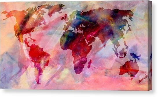 Map of australia canvas prints page 6 of 11 fine art america map of australia canvas print world map splash of color by athena mckinzie gumiabroncs Images