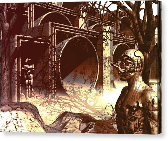 World Of Ruin Canvas Print