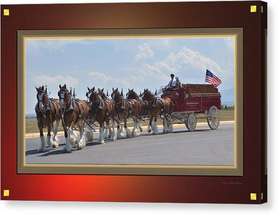 Draft Horses Canvas Print - World Renown Clydesdales by Kae Cheatham