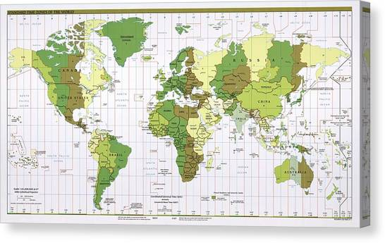 Continents canvas prints page 3 of 100 fine art america continents canvas print world time zones by library of congress geography and map division gumiabroncs