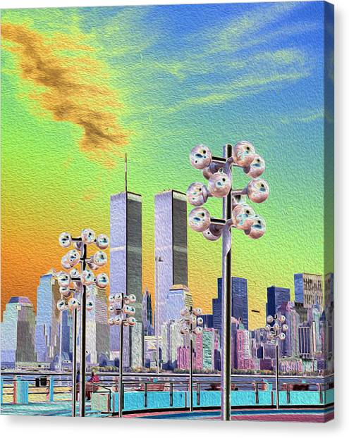 World Trade Center From Nj Terminal Canvas Print