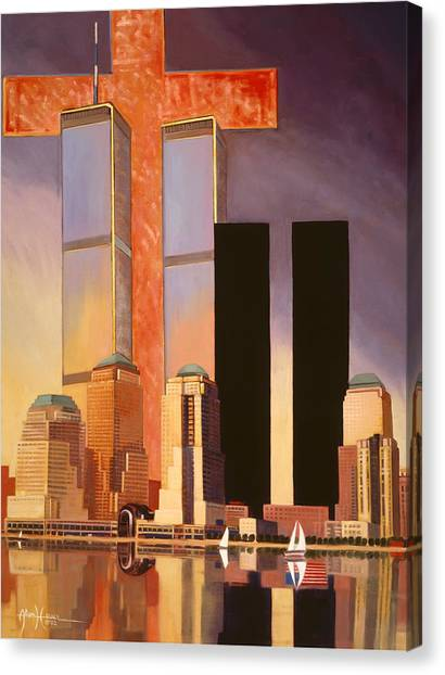Honor Canvas Print - World Trade Center Memorial by Art West