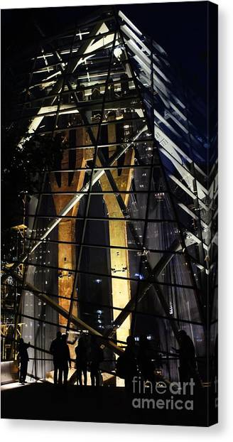 World Trade Center Museum At Night Canvas Print