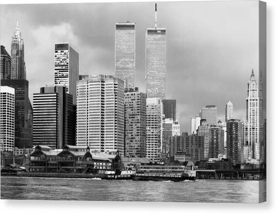 New York City - World Trade Center - Vintage Canvas Print