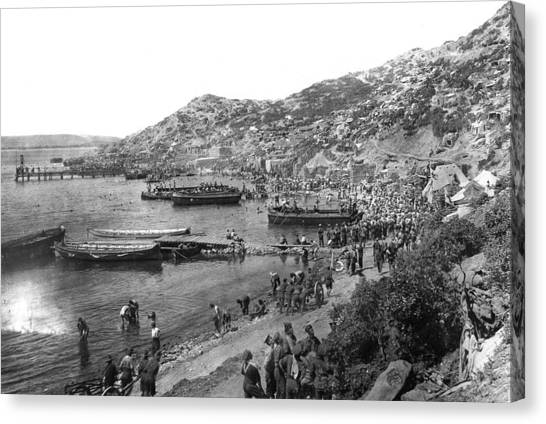Carousel Collection Canvas Print - World War I Gallipoli - To License For Professional Use Visit Granger.com by Granger