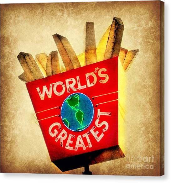 World's Greatest Fries Canvas Print