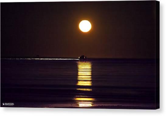 Worm Moon Rising Canvas Print