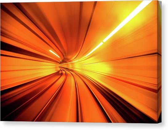 Railroads Canvas Print - Wormhole by Alfred Myers