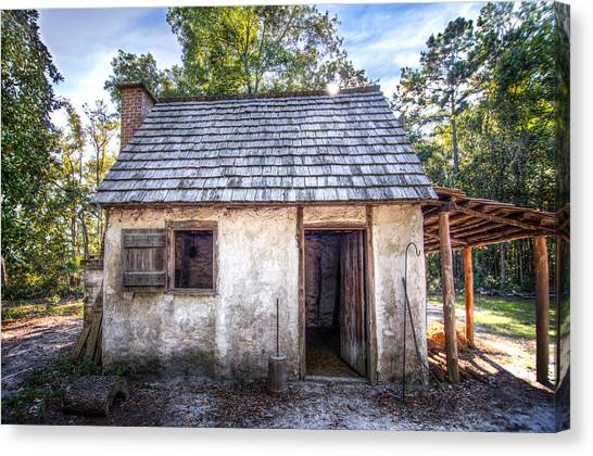 Wormsloe Cabin Canvas Print