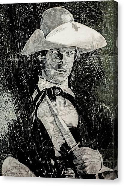 5e9125fb575 Ten-gallon Hat Canvas Print - Worn Out Cowboy Photo by Joe Ciccarone
