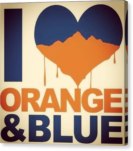 Superbowl Canvas Print - Worrrd! #bleedingorangeandblue by Natasha London