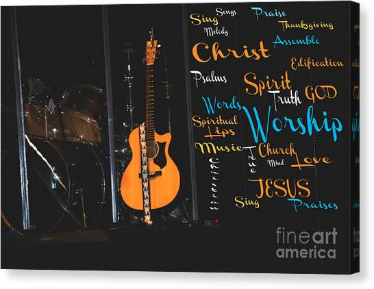 Praise The Lord Canvas Print - Worship The Lord by Beverly Guilliams