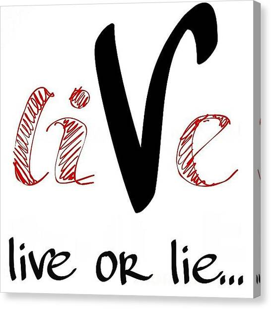 Palestinian Canvas Print - Would You Lie To Live by Allstar Art