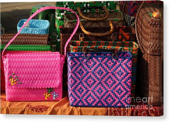 Woven Handbags For Sale Canvas Print