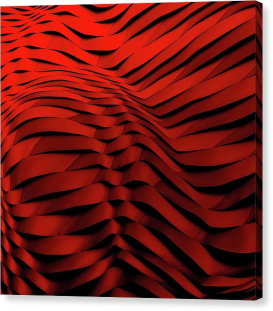 Abstraction Canvas Print - Woven Wave by Gilbert Claes