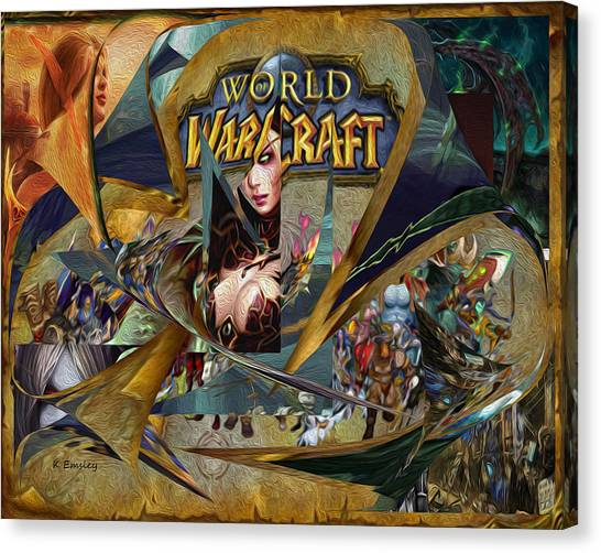World Of Warcraft Canvas Print - Wow Canvas by Karl Emsley