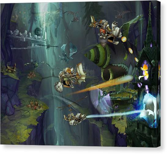 World Of Warcraft Canvas Print - Wow Valley Of Death by Karl Emsley