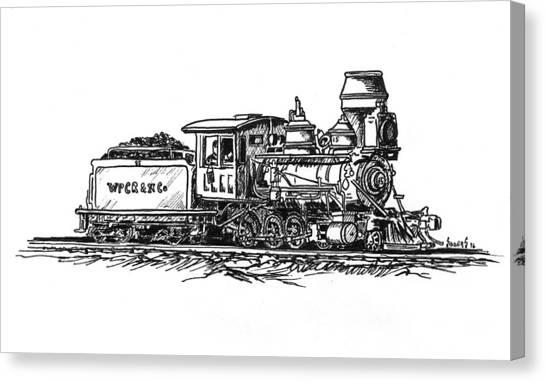 Train Canvas Print - W.p.c..r. Loco by Sam Sidders