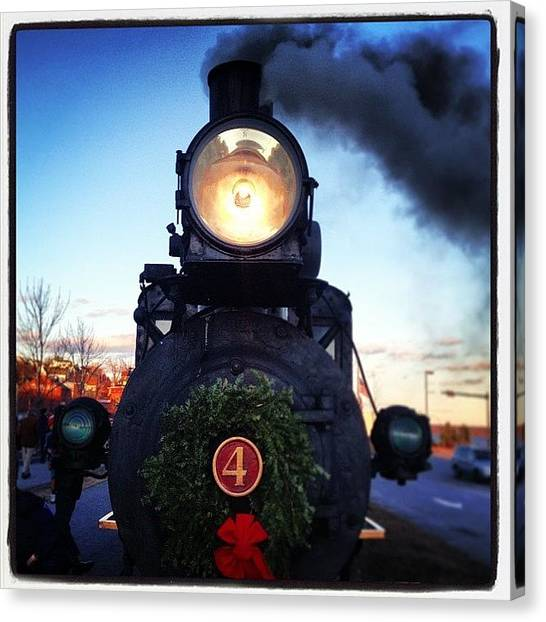 Steam Trains Canvas Print - Wreathed Steamer~ #4 #train #locamotive by Chris T Darling