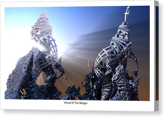 Wreck Of The Menger Canvas Print