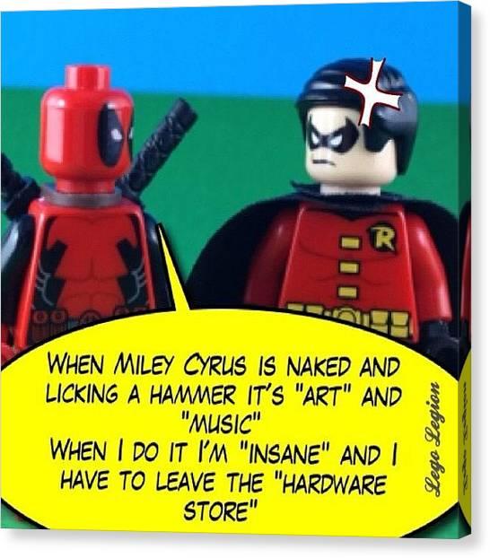 Robins Canvas Print - Wrecking Balls #legolegion by Lego Legion