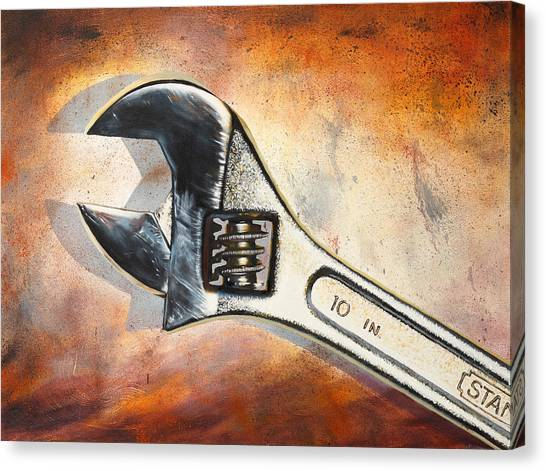 Wrenches Canvas Print - Wrenched by Karl Melton