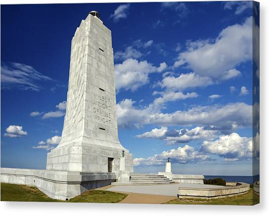 Wright Brothers Memorial D Canvas Print