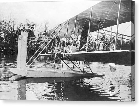 Seaplanes Canvas Print - Wright Seaplane by Us Air Force/science Photo Library