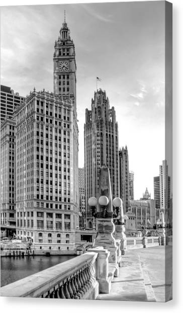 Michigan Canvas Print - Wrigley And Tribune by Scott Norris