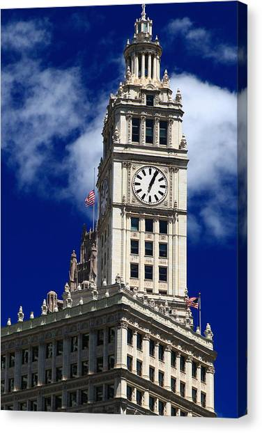 Wrigley Building Clock Tower Canvas Print