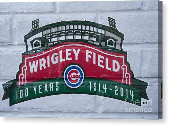 Wrigley Field At 100 Canvas Print by David Bearden