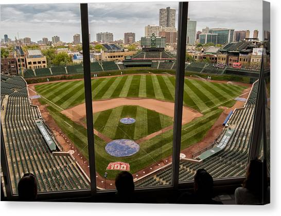 Wrigley Field Press Box Canvas Print