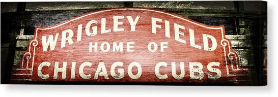 Wrigley Field Canvas Print - Wrigley Field Sign - No.2 by Stephen Stookey