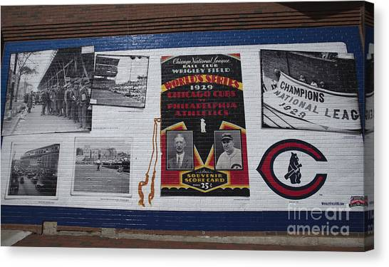 Wrigley Images - 1929 Canvas Print by David Bearden