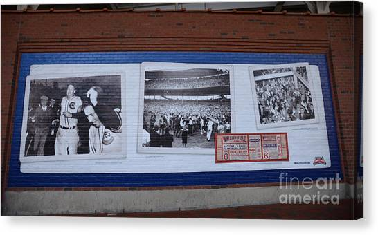 Wrigley Images - 1938 Canvas Print by David Bearden