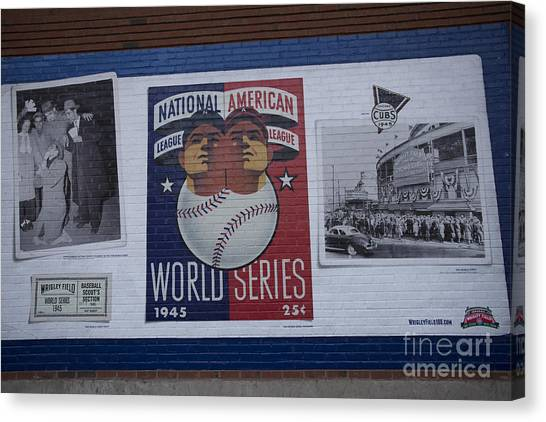 Wrigley Images - 1945 Canvas Print by David Bearden