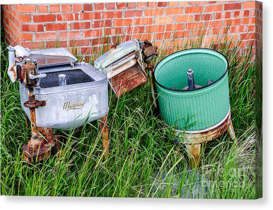 Wringer Washer And Laundry Tub Canvas Print