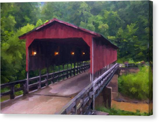 Wv Covered Bridge Canvas Print