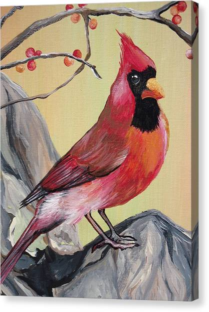 Wv State Bird Canvas Print