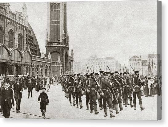 Royal Marines Canvas Print - Wwi Ostend, C1914 by Granger