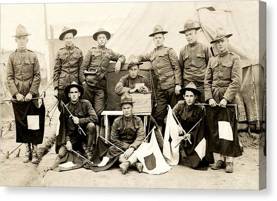 Wwi Us Army Signal Corps Canvas Print