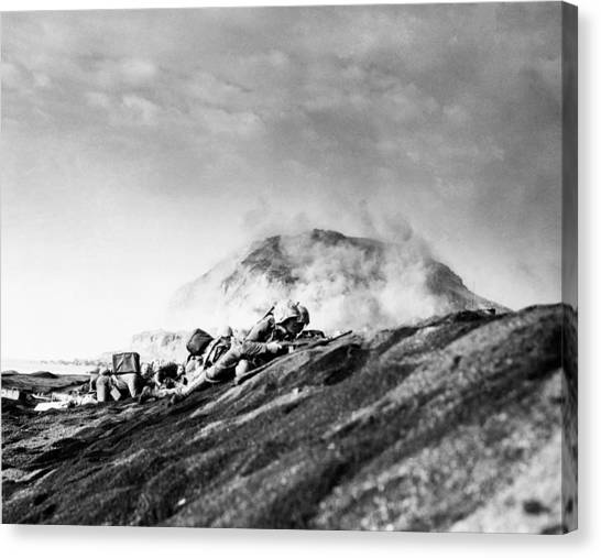 Pacific Division Canvas Print - Wwii Iwo Jima Beachhead  by Historic Image