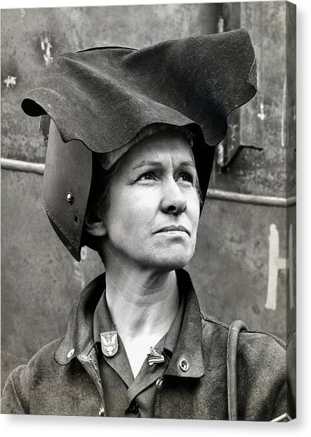 Wwii Rosie The Riveter Canvas Print