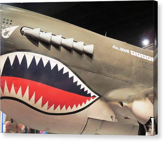 Wwii Shark Canvas Print